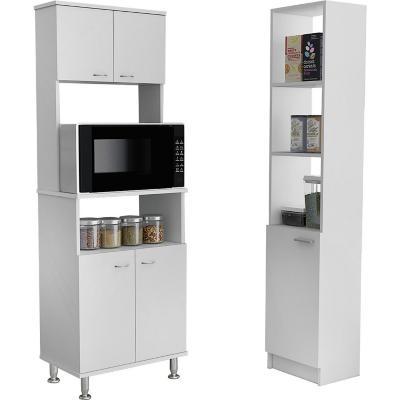 Combo cocina mueble microondas + optimizador blanco