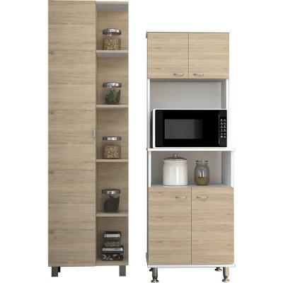 Combo cocina mueble cocina + optimizador - rovere/blanco
