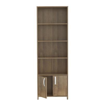 Mueble Biblioteca 2 puertas 182x60x25 cm Café