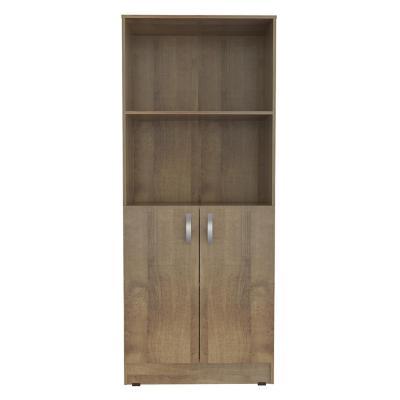 Mueble Biblioteca 2 puertas 180x75x37,5 cm Café
