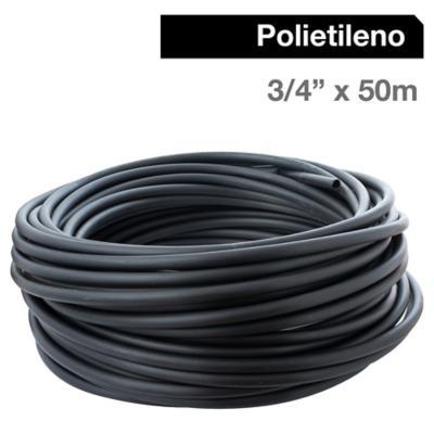 "Cañería Polietileno 3/4"" x 50m  Negro"