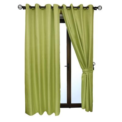 Set cortina blackout 6 piezas con argolla pistacho