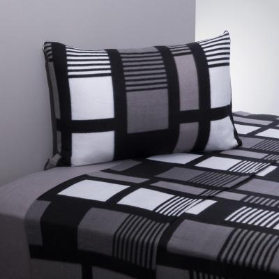 Juego sábanas polar frost negro/gris 1,5 plazas