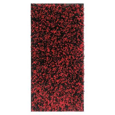 Alfombra shaggy 50x100 cm rojo/negro