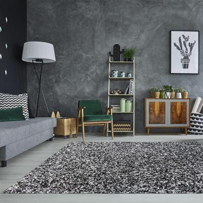Alfombra shaggy 150x200 cm negro/gris