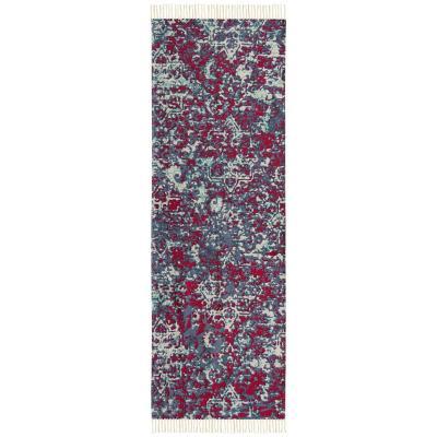 Alfombra pasillo cotton vintage 70x230 cm rojo