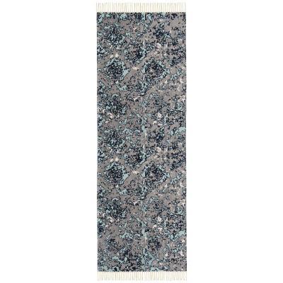 Alfombra pasillo vintage 70x230 cm gris