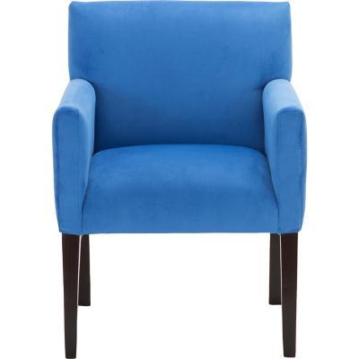 Sitial minimalista felpa azul rey 57x88x57 cm