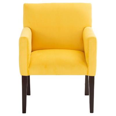Sitial minimalista felpa amarillo 57x88x57 cm