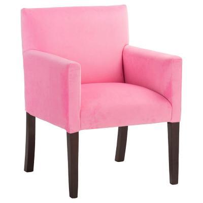 Sitial minimalista felpa rosado 57x88x57 cm