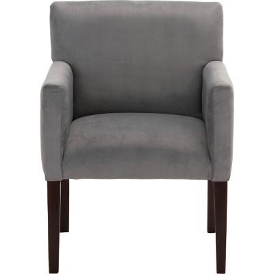 Sitial minimalista felpa gris 57x88x57 cm