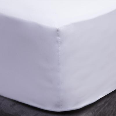 Sábana inferior 200 hilos liso blanco súper king