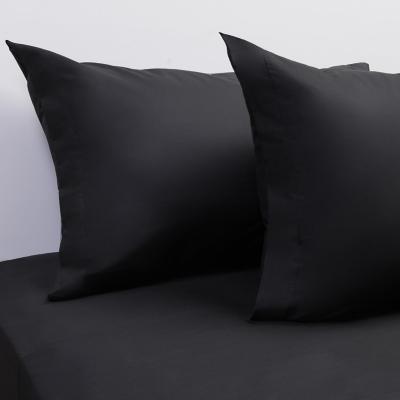 Juego sábanas 200 hilos liso negro king