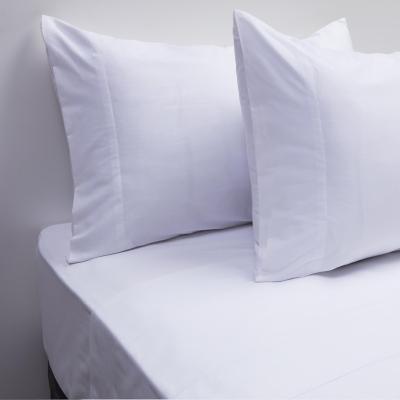 Juego sábanas 200 hilos liso blanco 2 plazas
