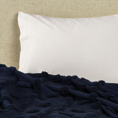 Funda almohada 300 hilos algodón beige 52x76 cm