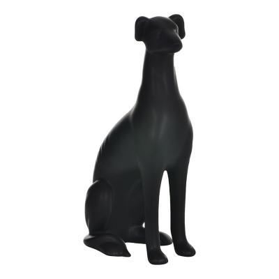 Figura decorativa perro galgo cerámica 29 cm negro