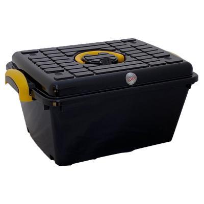 Caja 25 l 50x23x33 cm negra-amarilla