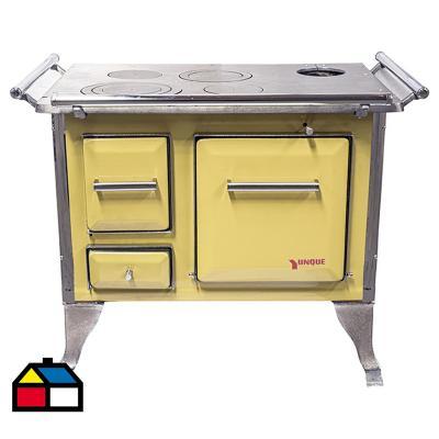 Cocina a leña tradicional 80x56 Amarilla