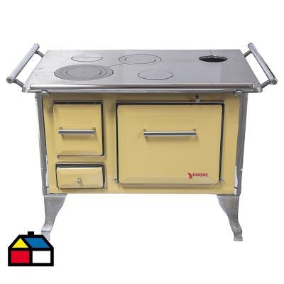 Cocina a leña tradicional 90X60 Amarilla