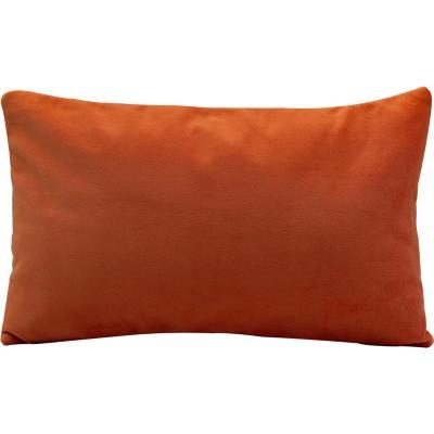 Cojín felpa naranjo 30x50 cm