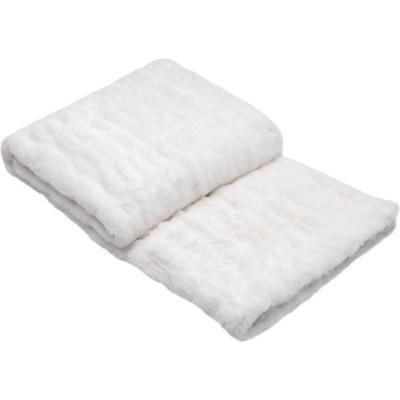 Manta piel snowy blanco 127x152 cm