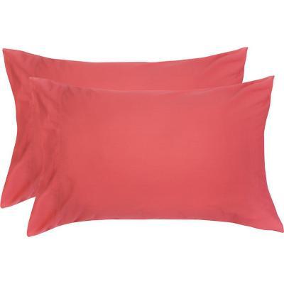 Set 2 fundas almohadas coral 52x91 cm