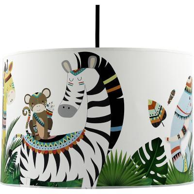 Lámpara colgante infantil 30x20 cm selva tribal