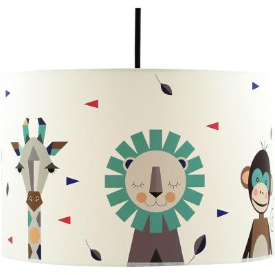 Lámpara colgante infantil 30x20 cm selva nordico