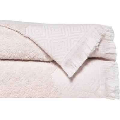 Set 2 toallas mano 50x90 cm zag beige