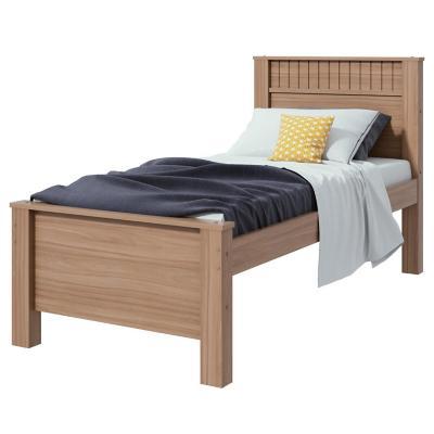 Cama 1 plaza parral + respaldo + colchón