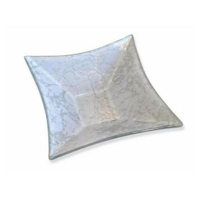 Bowl vidrio cuadrado gris