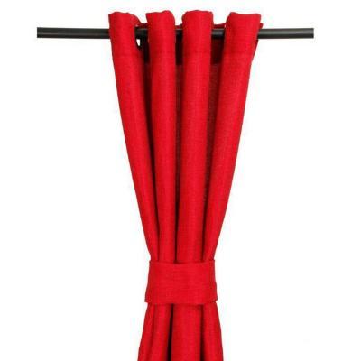 Cortina argollas 140x225 cm rojo