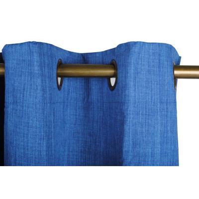 Cortina argollas black out 140x225 cm azul