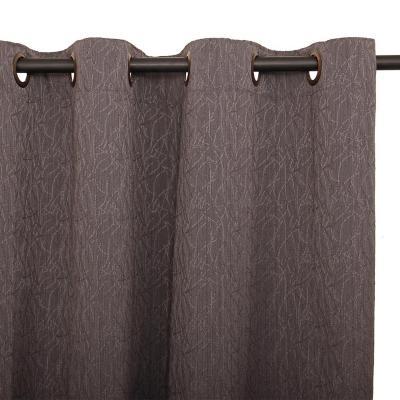 Cortina argollas wafle 140x225 cm gris