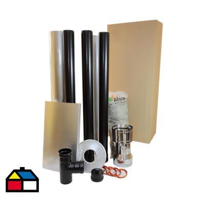 Kit base instalación 1 piso para estufa a pellet