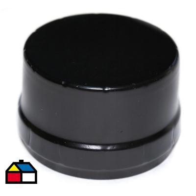 Tapa acero esmaltado negro para estufa a pellet