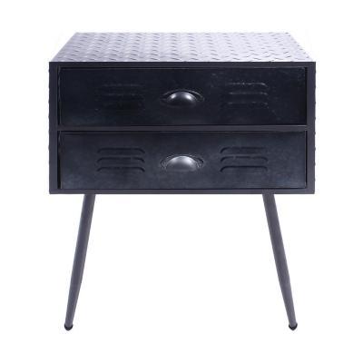 Mueble gavetero decorativo  metal azul