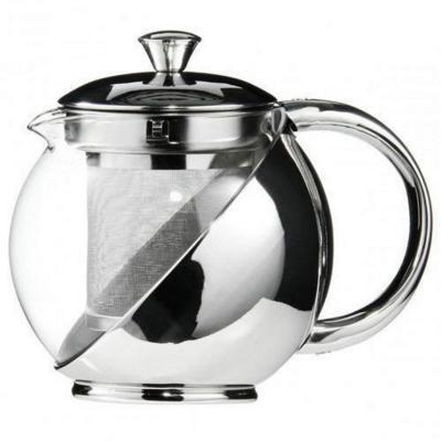 Tetera vidrio con acero 500 ml