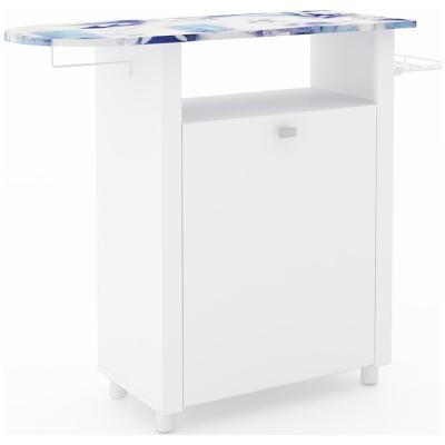 Mueble para planchado blanco 85 x 102,5 x 35,5 cm