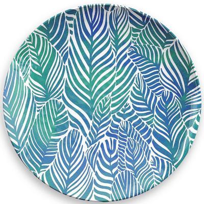 Plato melamina tropical diseño