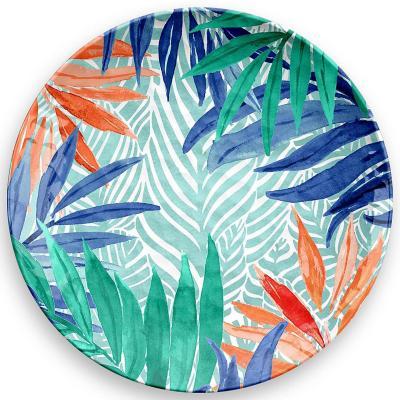 Plato melamina tropical diseño 2