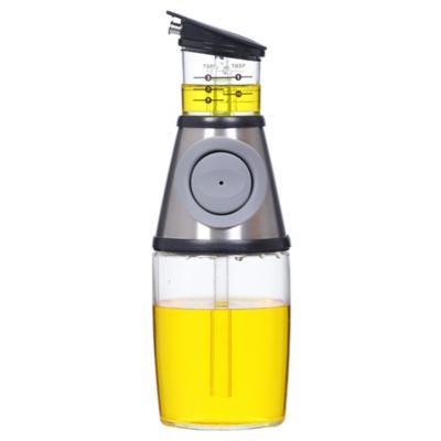 Alcuza con medidor 250 ml vidrio acero