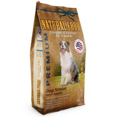 Alimento premium perro senior 15 kg carne