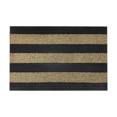 Limpiapiés rubber grass 46x76 cm negro/café