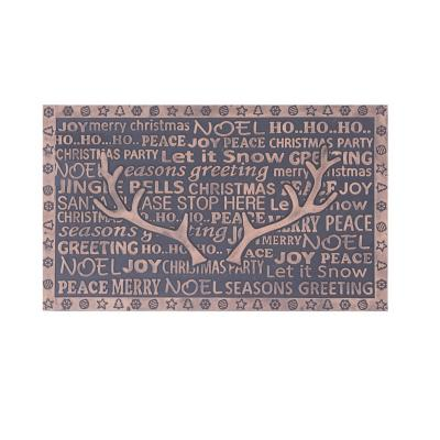 Limpiapiés rubber christmas 45x75 cm merry