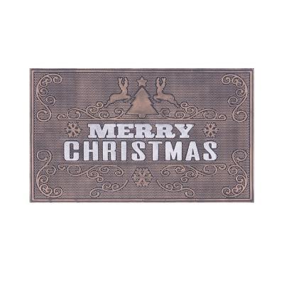 Limpiapiés rubber christmas 45x75 cm cuernos