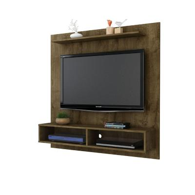 "Mueble panel tv 47"" gama rústico 120x115x30 cm"