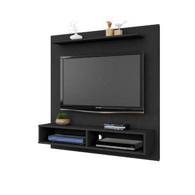 """Mueble panel tv 47"""" gama negro 120x115x30 cm"""
