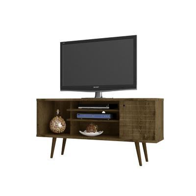 """Rack tv 55"""" safira rústico 68x135x36 cm"""