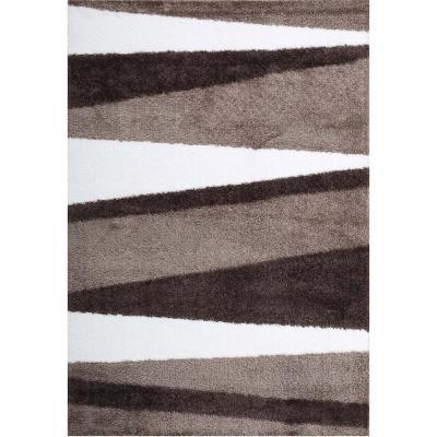 Alfombra shaggy lucerna 133x190 cm café/blanco